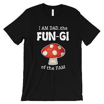 真菌のお父さんキノコメンズブラック愚かな父&アポ;s日のお祝いシャツ