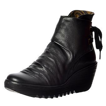 Flyv London Yama træk på ankel støvler kile hæl