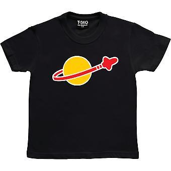 Spazio Logo Nero Bambini' T-Shirt
