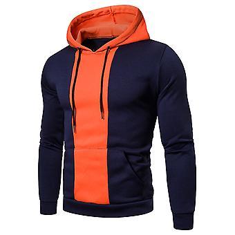 Allthemen män ' s casual snygg huva colorblocked Långärmad Sweatshirt
