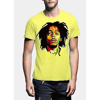 Bob marley vara lyckliga halv ärm män t-shirt