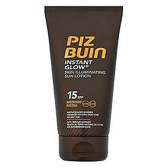Sunscreen Instant Glow Piz Buin SPF 15 (150 ml)