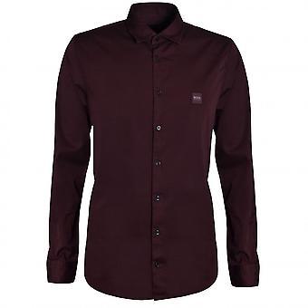 Hugo Boss Casual Hugo Boss Men's Slim Fit Dark Red Mypop Shirt