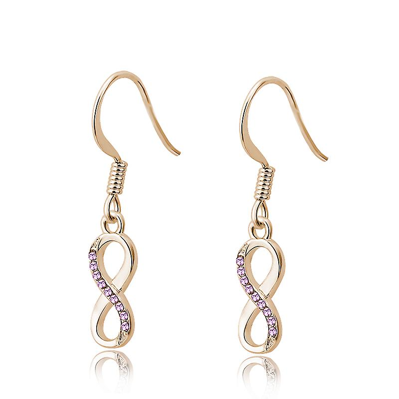 Set Timothy Stone Swarovski elements infinity Gold amethyst