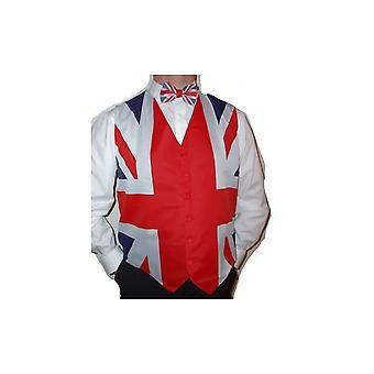 Union Jack Wear Union Jack Waistcoat And Bow Tie