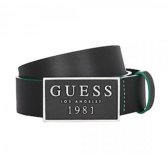 Guess Logo Plate Belt Black M92Z37L0M50