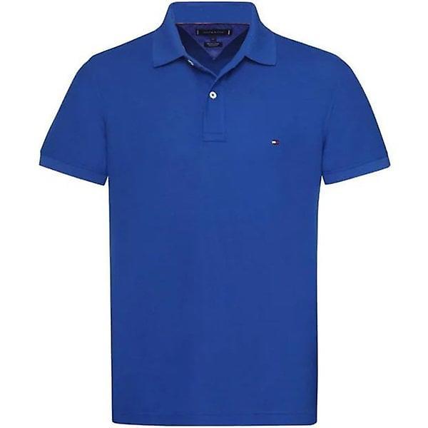 Tommy Hilfiger Polo Shirt Mens Lapis Blue Slim Fit
