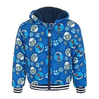 Paw Patrol Lets Snow Boy's Children's Blue Zipped Coat Hooded Jacket