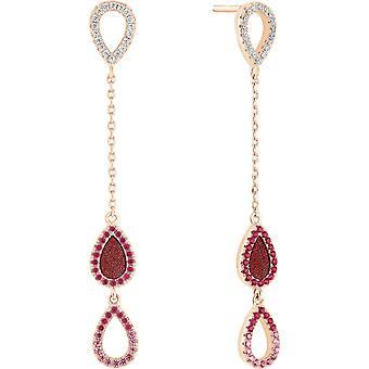 Earrings Zeades Ser02046 - earrings Rose leather gold