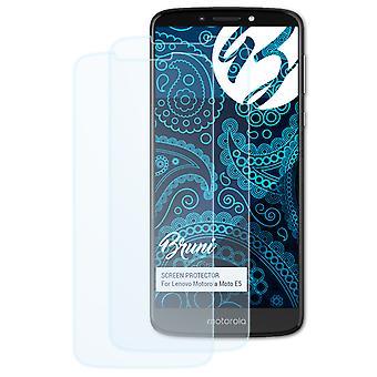 Bruni 2x Screen Protector compatibel met Lenovo Motorola Moto E5 Beschermende Film