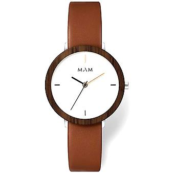Mam Original Japanese Quartz Analog Woman Watch with FERRA 637 Cowskin Bracelet