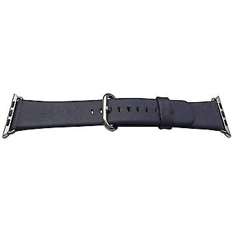 Iwatch strap navy blue 42mm calf stainless steel buckle