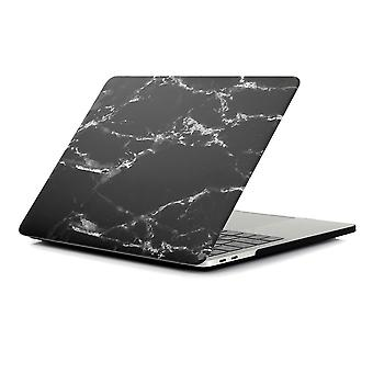 MacBook Air 13.3 A1932 (2018) + Retina malli kuori - marmori musta