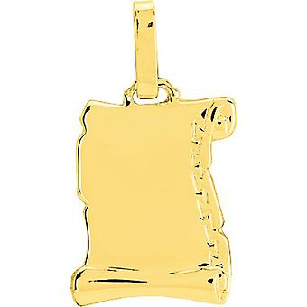 GM gold 750/1000 yellow (18K) smooth parchment pendant