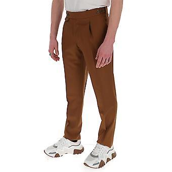 Lardini Eiporto3ei54070420 Men's Brown Cotton Pants