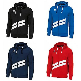 Errea Unisex Jill Long Sleeved Zip Hooded Top