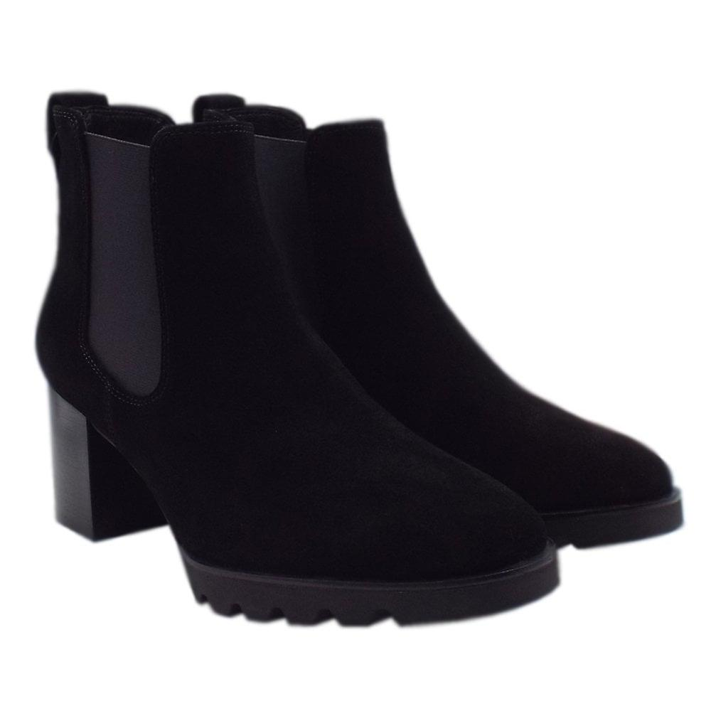 Högl 8-10 4622 Tess Sporty Chelsea Boots In Black Suede