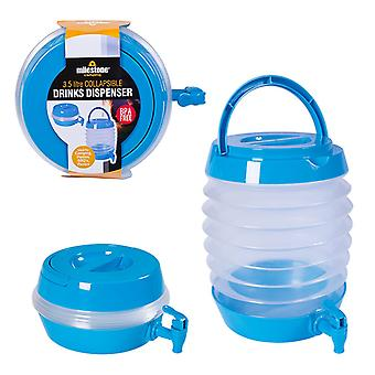 Milestone Collapsible Camping Beverage Dispenser Blue 3.5L