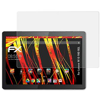 atFoliX Glass Protector compatible with Lenovo M10 FHD REL Glass Protective Film 9H Hybrid-Glass
