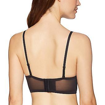 Maidenform Kvinner's Casual Comfort Halter Bralette BH, Svart,, Svart, Størrelse 36D
