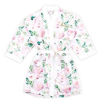 Weddingstar Inc. Women's Premium Silky Kimono Robe, White/Pink Floral, Large/...