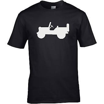 Jeep Silhouette 4WD Offroad - Bil Motor - DTG Trykt T-skjorte