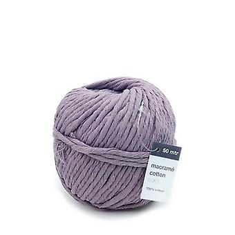 Vivant Macramé cord cotton 50m x 5mm - lilac