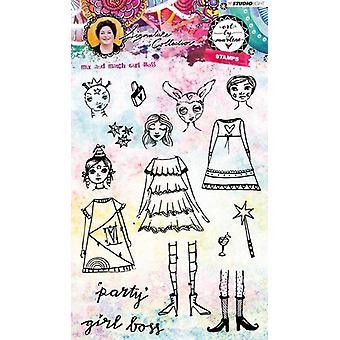 Studio Ljus Stamp Girl Boss Konst av Marlene 3,0 nr.36 STAMPBM36