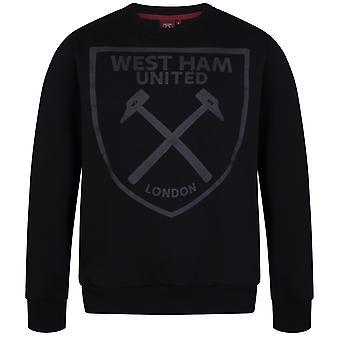 West Ham United FC offizielle Fußball Geschenk Herren Wappen Sweatshirt Top