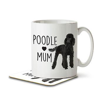 Poodle Mum - Mug and Coaster