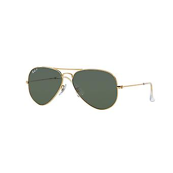 Lunettes de soleil Ray-Ban Aviator RB3025 001/58 Gold Arista/Polarised Crystal Green