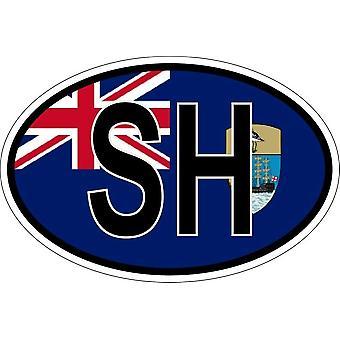 ملصقا البيضاوي العلم البيضاوي رمز البلد SH سانت سانت هيلين