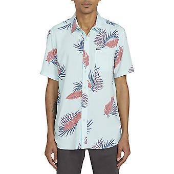 Volcom Bermuda Short Sleeve Shirt in Resin Blue