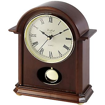 Woodford Pendulum Quartz Mantel Clock - Brown