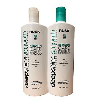 Beschuit Deep Shine Smooth Keratine Care Shampoo & Conditioner 12 OZ Set