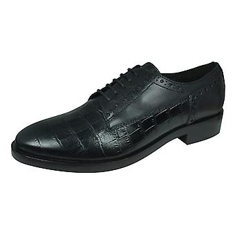 Geox D Brogue B Womens Leather Lace Up Shoes - Black