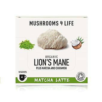 Mushrooms4Life Organic Lion's Mane Matcha Latte Sachets 10 (ML0063)