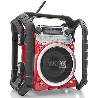 Caliber Audio Technology WORKXL1 Workplace radio DAB+, FM AUX, Bluetooth Battery charger, waterproof, shockproof, dustproof Black, Red