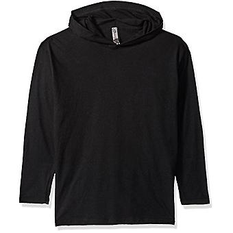 Clementine Girls' Big Youth Soft and Light Long-Sleeve Hooded T-Shirt, Black...