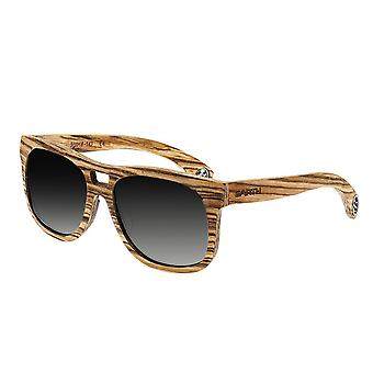 Earth Wood Las Islas Polarized Sunglasses - Zebrawood/Silver