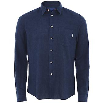 Camicia Paul Smith Tailored Fit Cotton Linen Houndstooth Camicia