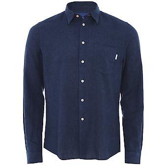 Paul Smith Tailored Fit Puuvilla Pellava Houndstooth paita