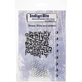Fil de rivet IndigoBlu & Lettres A6