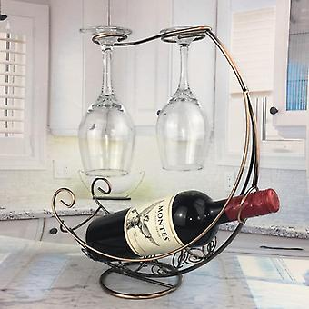 Creative Metal Wine Rack Used For Hanging Wine Glass - Glass Holder Or Stand