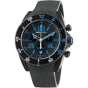 MOMO Design Dive Master Watch MD1281BK-21 - Rubber Gents Quartz Chronograph