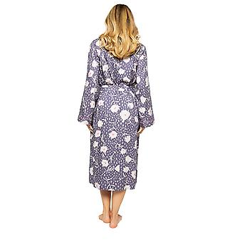 Cyberjammies Serena 4555 Women's Lilac Mix Floral Print Long Robe