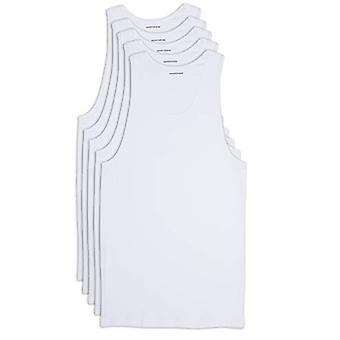Essentials Men's Big-Tall 5-Pack Tank Undershirts Shirt, -White, 4XL