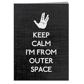 Keep Calm Outer Space Start Trek Greeting Card