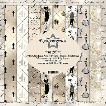 Dixi Craft Vin Blanc 12x12 Inch Paper Pack