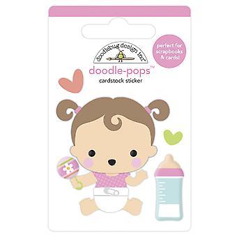 Doodlebug Design Sweet Girl Doodle-Pops